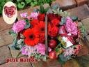 ガーベラバスケット(RED)バルーンピック