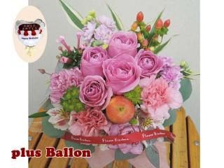バラのアレンジ+バルーンピック birthday