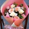 ピンク花束【パステル】
