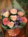パステル花束