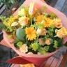 チューリップとミモザの花束