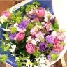 パープルチューリップの花束