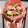 チューリップのパステル花束