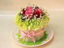 イチゴのフラワーケーキ (MINT)