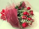 12本の赤いバラのロングブーケ