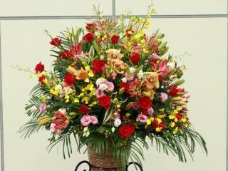 御祝のスタンド花 (コーンスタンドCS12501)