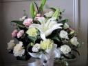 供花 【白い洋花メインに淡いピンクを入れて】
