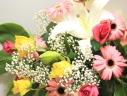 パワフルカラーの花束