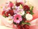 花びんのいらない花束☆ピンクレッド系