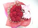 赤いカーネーションとカスミ草の花束≪ブーケタイプ≫