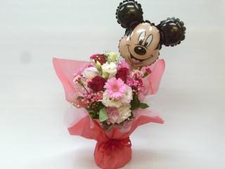 ミッキーマウス花瓶の要らない花束ブケットです。