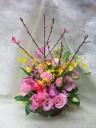 桃の花アレンジメント(ミドルサイズ)♪