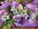 ♪紫のスイトピーの花束