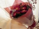ガーベラ&ミニバラ赤系の花束