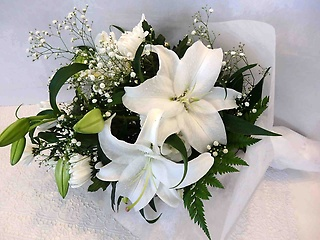 カサブランカのお供え花束