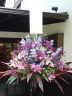 スタンド花 パープルピンク&ブルー