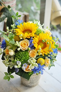 sunflower arrangement④