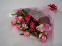ピンクバラの花束♪