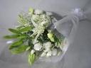 白ユリのお供え花束