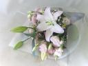 ピンクのお供え花束