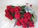 赤バラの花束♪