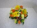 春のお花のアレンジメント♪キイロ×オレンジ