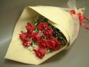 ☆赤いバラのシンプル花束