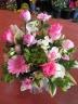 ☆ピンクのバラ入り可愛いアレンジ