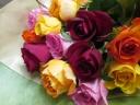 ローズミックス1ダースの花束