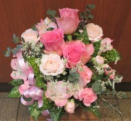 ☆ピンクの花のアレンジメント(Y/40)