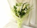 白×グリーン お悔やみの花束