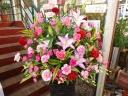 お祝いスタンド花1段*ピンク系