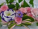 2種類のバラを使ったスクエアアレンジメント