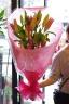 母の日!モリモリなピンクユリの花束的な(・∀・)