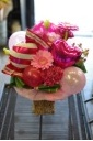 ピンク×ピンクなバルーンアレンジ【ボールペン入り】