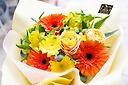 ビタミンカラーな4000円花束!