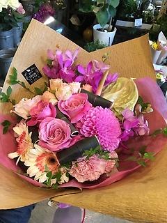 オリエンタルなお色の花束♪5000円
