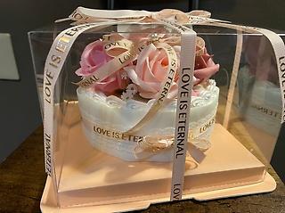 ケーキみたいなソープフラワー【ピンク】