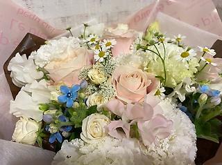 ふんわり♪ベビーピンクな花束