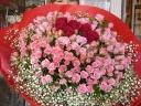 大きなばらの花束