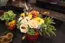 かぼちゃの入ったハロウィンアレンジメント