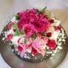 【生花】ビックサイズ!フラワーケーキ