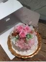 【プリザのケーキ】ブライダルピンク