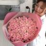【ブーケ】ピンクバラ108本のブーケ