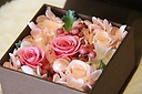 【プリザ】ボックスフラワー~mimi~ピンク