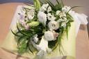 【お彼岸・お供え】白いユリの花束