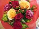 バラとカーネーションのmixブーケ