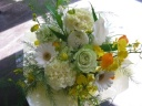 mimosaセレクトホワイト花束1