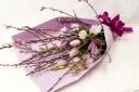 桃いっぱい♪春のボリューム花束