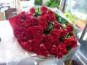 赤いバラ60本!!の花束